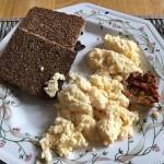 Scrambled Eggs on Rye Bread