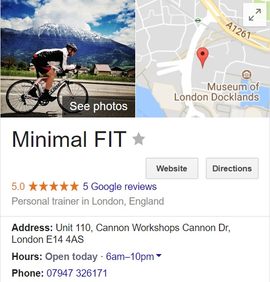 Personal Trainer Canary Wharf
