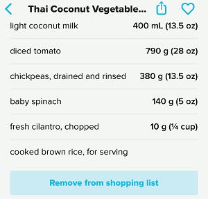 Tasty Meal Ingredients