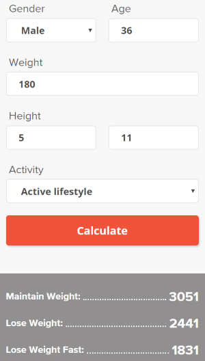 Online Calorie Calculator